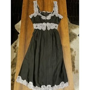Betsey Johnson black silk dress size 2